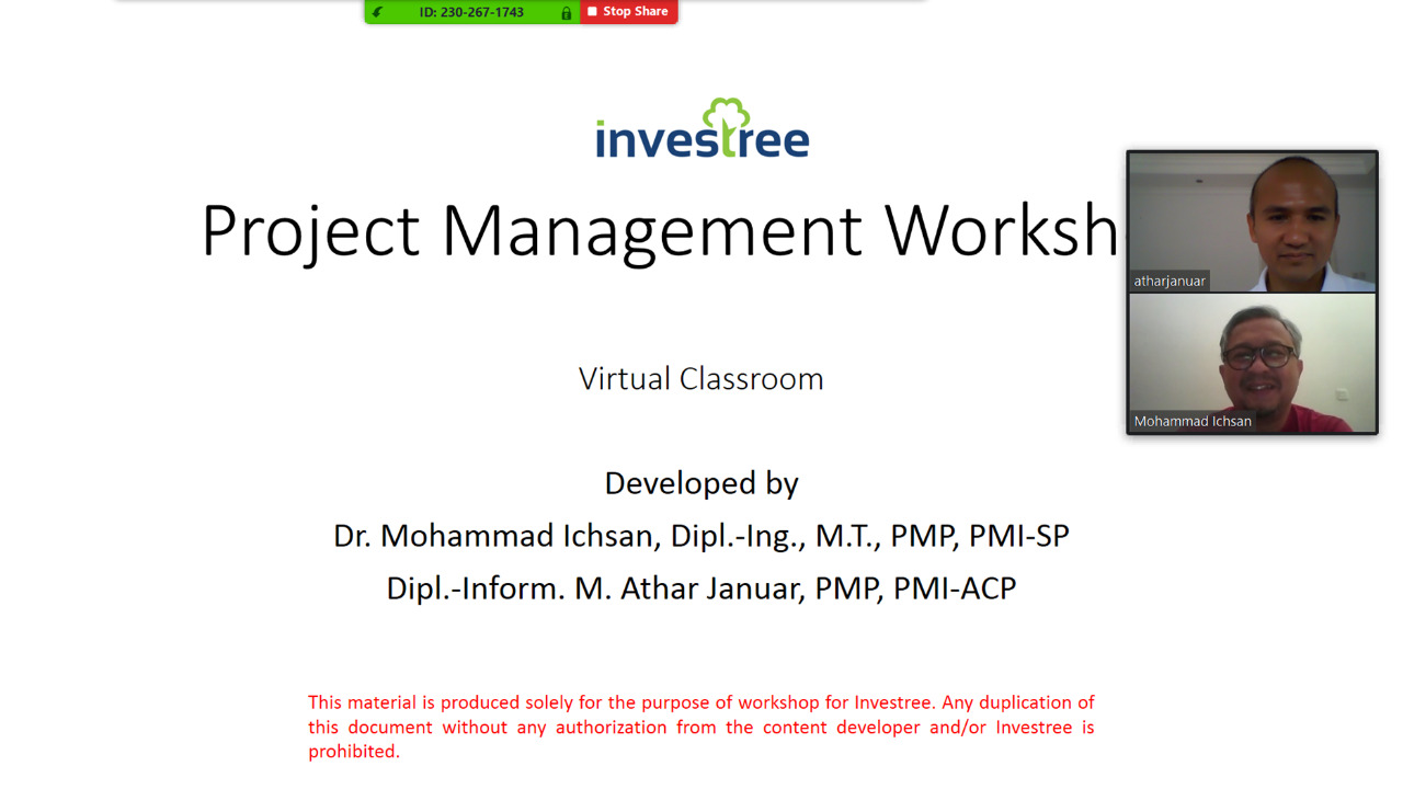 INVESTREE-Project Management Workshop